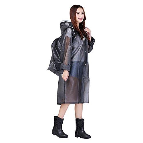 Poncho lluvia capucha impermeable capa de lluvia EVA chaqueta de lluvia translúcida mujer hombre impermeable motocicleta bicicleta viaje acampa