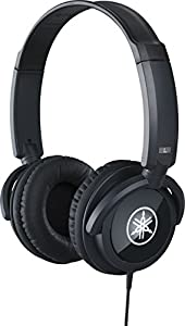 Yamaha HPH-100 Headphones, Quality Sound and Deep Bass, Over the Ear, Wired Musicians Headphones, in Black