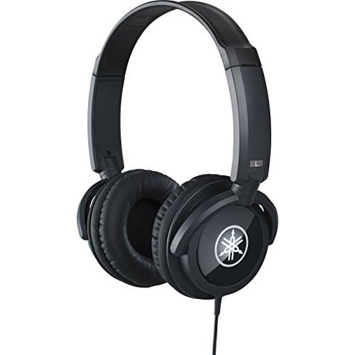 YAMAHA HPH-100B Cuffie Sovraurali, Cuffia On Ear con Meccanismo Girevole 90°, Leggere e Confortevoli, Suono Dinamico di Qualità, Adatte per Strumenti Musicali Digitali, Nero