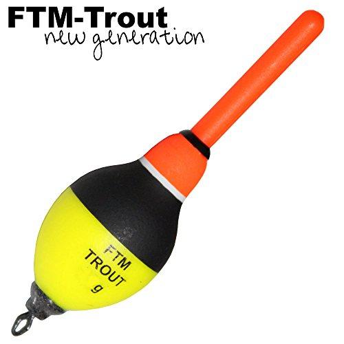 FTM Trout Slider - Angelpose zum Forellen & Störangeln, Knicklichtpose, Forellenpose, Pose für Störe, Forellenschwimmer, Tragkraft:4g