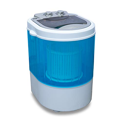Molino Mini lavadora de carga superior con centrifugado, lavadora de camping hasta 3 kg, pequeña y manejable, con asa