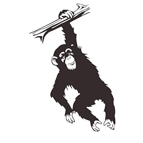 PETSOLA Inicio Pegatinas de Pared Decorativas para Habitaciones de Niños Arte Mural de Mono Gorila Negro