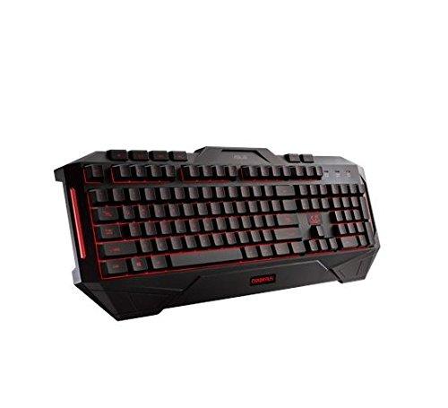 ASUS Cerberus USB Schwarz - Tastaturen (Standard, Verkabelt, USB, Schwarz)