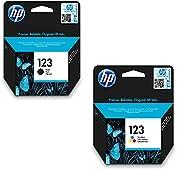 HP 123 Black + Tri-color Original Ink Cartridge F6V16AE+F6V17AE