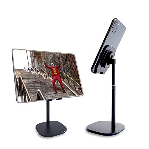 Cell Phone Stand, Phone Stand for Desk Adjustable Cell Phone Stand, Cradle, Dock, Phone Stand Tablet Stand Holder Desktop Phone Stand Compatible with All Smart Phone/Pad