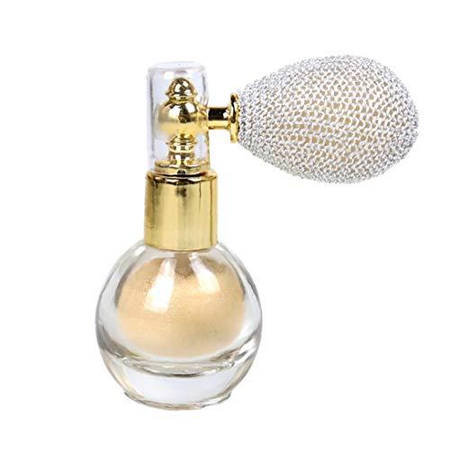 Nicetruc Powder Spray Glitter Brighten Luccichio Aroma Highlighter Pigmento di Trucco in Polvere per Viso Peloso -Avorio Bianco