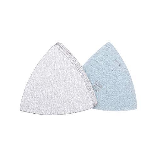 Gancho y bucle de papel de lija de 3 a 1/2 pulgadas para lijadora de papel de lija blanco abrasivo de 80 granos 6 piezas