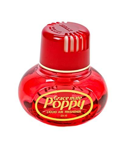 Poppy Original Lufterfrischer, mit Klebepad, Duft Inhalt 150 ml, Raumduft, LKW, Auto, Boot, Wohnmobil, Büro, Duft Kirsche