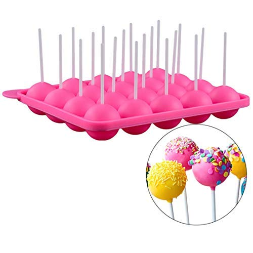 20Holes Chocolate Ball Cupcake Cookie Candy Maker DIY Baking Tool Silicone Pop Lollipop Mold Stick Tray Cake Mould