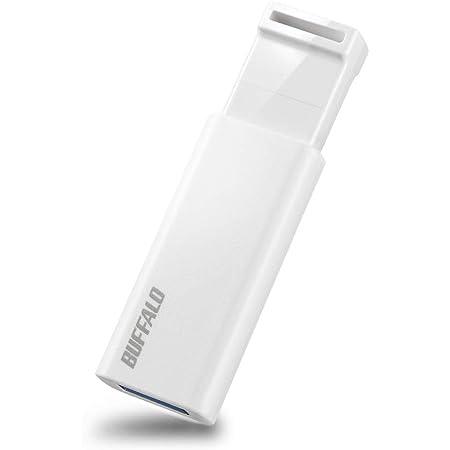 BUFFALO【国内メーカー】 USBメモリ 64GB ノックスライド式 USB3.2(Gen1)/3.1(Gen 1)/3.0/2.0 充実サポート RUF3-KS64GA-WH/N