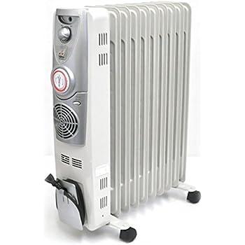 iimono117 高性能 ファン付き 10枚 ストレート オイルヒーター 【~12畳】 / 暖房 冬 ヒーター