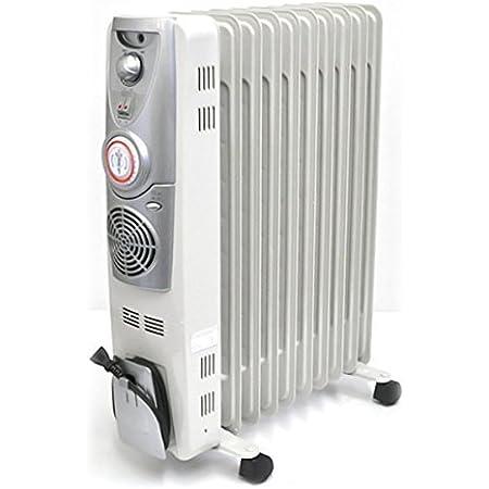 iimono117 オイルヒーター 高性能 ハンガー 速暖ファン付き 10枚フィン ~12畳 ON OFF タイマー付き/暖房 冬 ヒーター 乾燥対策 省エネ