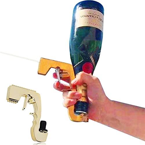 WBJLG Pistola de champán Bubbly Blaster, Pistola de champán con tapón de Vino, Pulverizador Práctico Blaster Bubbly Squirt Spray, Eyector de Botella de champán Duradero para Bodas
