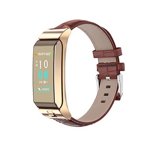 XuQinQin Reloj Inteligente Separado Reloj Auricular Bluetooth Frecuencia cardíaca Presión Arterial Hombres y Mujeres Podómetro Deportivo Pulsera - Cuatro Colores Opcionales Reloj tecnológico