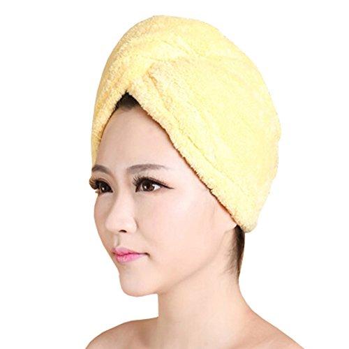 Doux séchage des cheveux PAC forte absorption d'eau-Cap Bath showercap Jaune