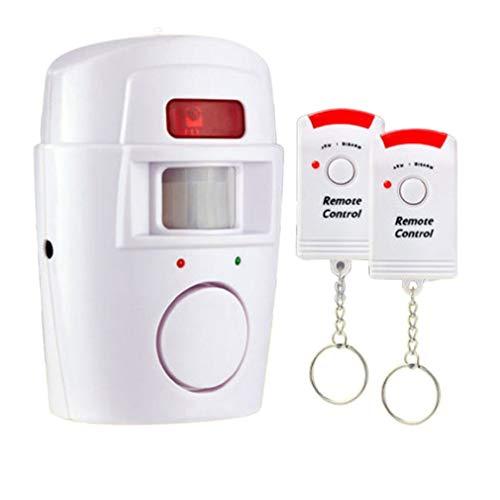 YKSO Detector de seguridad inalámbrico con sensor de movimiento para interior y exterior, sistema de alerta con control remoto para garaje en casa