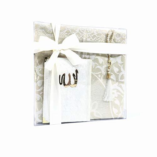 Tekbir Le coffret cadeau musulman contient un tapis de prière, un livre de Sourate et un chapelet, idéal comme cadeau pour l