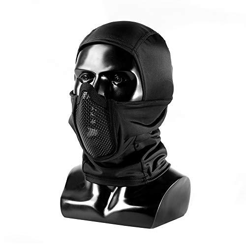 OneTigris Balaclava Mesh Gesichtsschutz Taktische Sturmhaube Ninja Style VollgesichtsGesichtsschutz für Airsoft