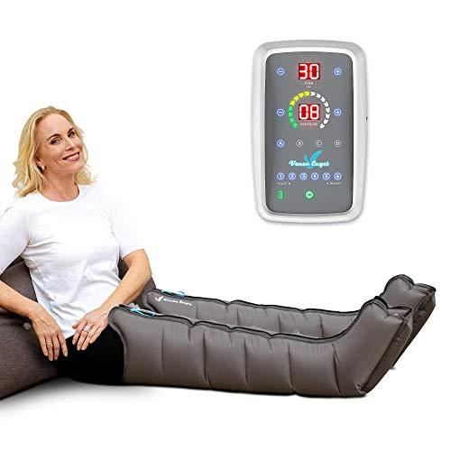 Venen Engel ® 6 Mobil Massage-Gerät mit Beinmanschetten, akkubetrieben, 6 deaktivierbare Luftkammern, Druck & Zeit unkompliziert einstellbar