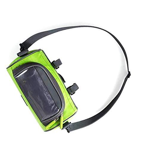 Samine Bolsa impermeable para manillar de bicicleta, color verde