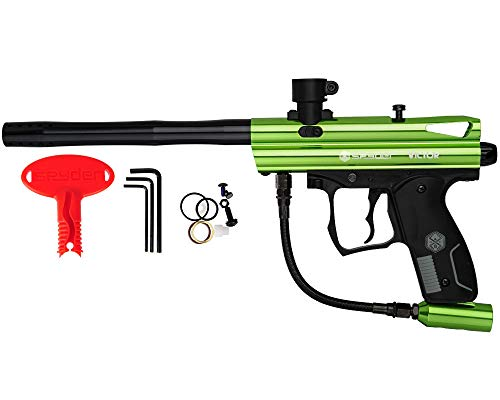 Spyder Victor Semi-Auto Paintball Marker with Extended Warranty (Polish Slime Green)