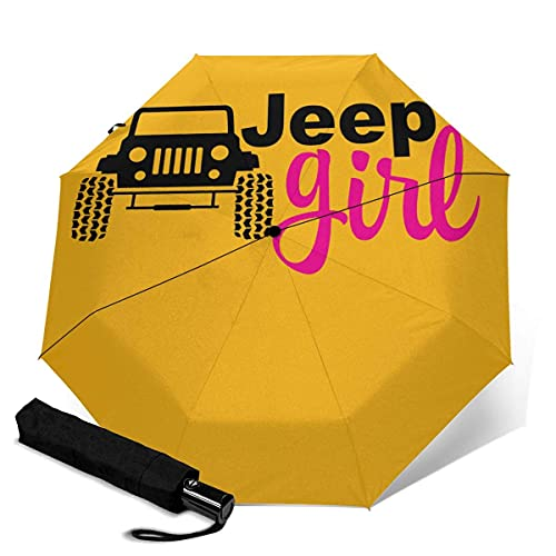 Automatischer Dreifach-Regenschirm Unisex Bedruckter Regenschirm Manueller Regenschirm Je-ep Girl