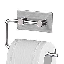 Kitlit Toilettenpapierhalter Edelstahl Selbstklebend Rollenhalter Bad Badzimmer WC Papierhalter Klopapierrollenhalter Ohne Bohren Klorollenhalter Rollenpapierhalter Wandhalterung