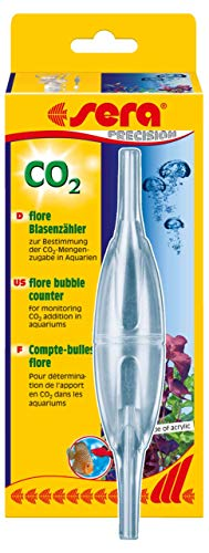 sera 08059 flore CO2 Blasenzähler für CO2 Anlage - zur Bestimmung der CO2-Zugabe in Aquarien (passend zu allen CO2 Anlagen), keine, 80136