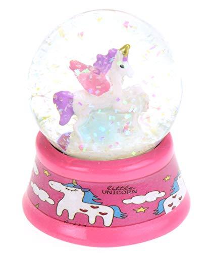 Toi-Toys schneekugel mit Glitzer Einhorn Mädchen 6 cm rosa