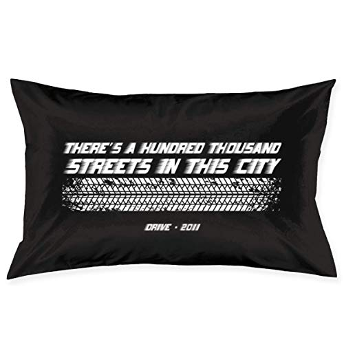 yantaiyu Cushion Cover Drive Movie Opening Line Rectangle Home Throw Pillow Case Cute Bed Room Decorative Unique Standard Hidden Zipper 40X60Cm Gift Anime Cozy Pillow Cover
