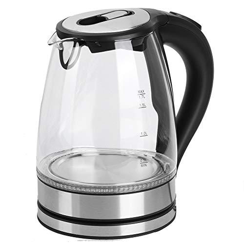 01 Hervidor Eléctrico, Hervidor De Té, Enchufe De La UE De Luz Azul De Vidrio Transparente para Aplicaciones De Cocina De Té Agua Hirviendo