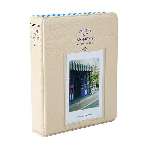 Fetoo 64 Taschen Mini Album Schutzhülle Foto Album Fotohüllen für Mini Fujifilm Instax Miini Film 7S/8/25/50/90, 14 * 11cm (Beige)