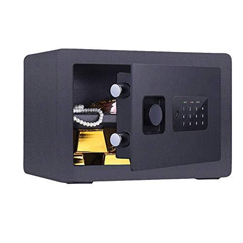 Caja de seguridad para equipos domésticos Caja de seguridad de acero con teclado digital para oficinas en el hogar y hoteles Caja fuerte de seguridad para joyas en efectivo (Color: gris claro Tamañ