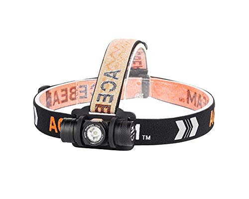 ACEBEAM H40 Headlamp, CREE XP-L LED Head Lamp Flashlight 1050 Lumens, IP68 Waterproof Headlight for Reading, Running, Camping, Hiking, Hunting