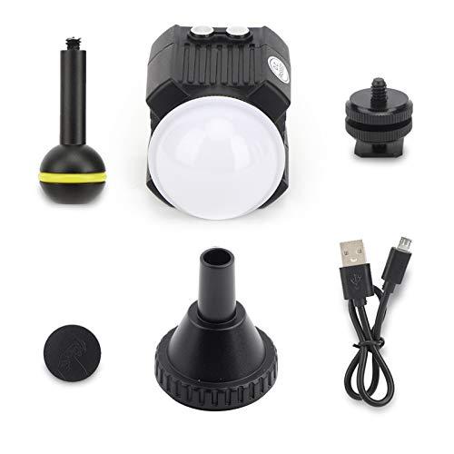 Deror Orsda SL-19 Luz de Relleno LED de Buceo 60 m Accesorio de fotografía Impermeable bajo el Agua Apto para cámara