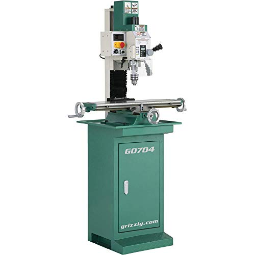 Grizzly Industrial G0704-7' x 27' 1 HP Mill/Drill with Stand
