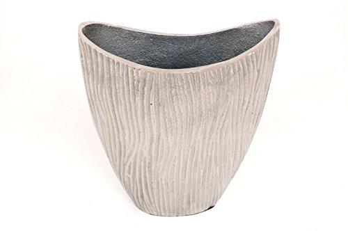 Sukima Decor Wave vaas, metaal, zilverkleurig, 21 cm