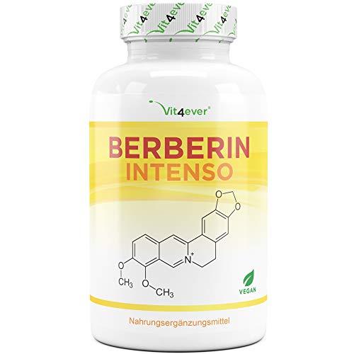 Berberin HCL Extrakt - 120 Kapseln mit 500 mg - Natürliches Berberine + schwarzer Pfeffer Extrakt - Laborgeprüft - Hochdosiert - Vegan - Premium Qualität