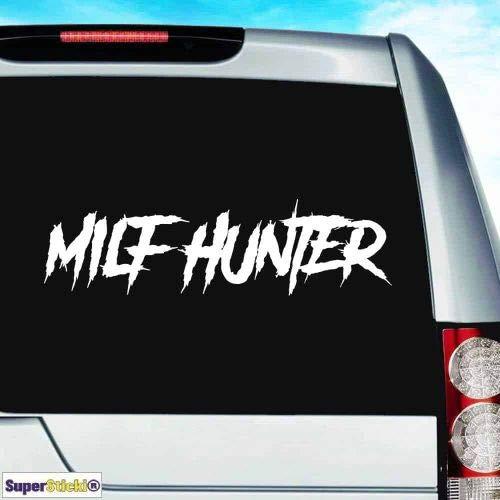 SUPERSTICKI Milf Hunter ca.30cm Tuning JDM Hobby Decal Sticker Aufkleber, Autoaufkleber,Sticker für Scheibe,Lack,Laptop,Wandtattoo aus Hochleistungsfolie, Profi-Qualität UV& Waschanlagenfest