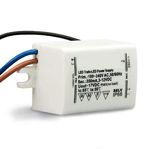 Isolicht LED Trafo 350mA, 1-4Watt, 3-12Volt DC (Gleichstrom)