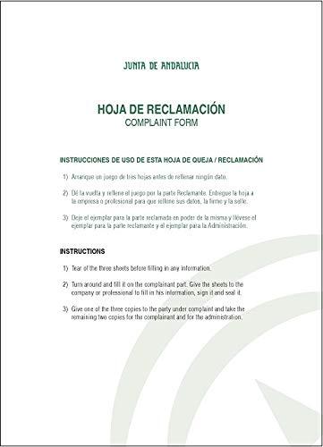 Libro de hojas de reclamaciones Andalucía