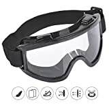 Tallin Goggles with Adjustable Strap for Adult Motorbike ATV/Dirt Bike, Cycling Racing, Black
