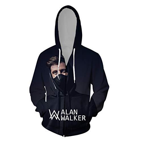 cshsb Alan Walker Jungen Hoodie mit 3D Happy Logo Druck Happy Kapuzenpullover,A,XXS-XS