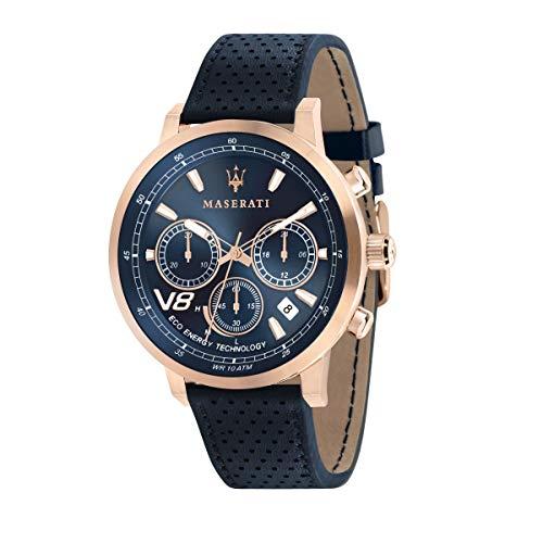 Reloj para Hombre, Colección GT, Movimiento de Cuarzo, cronógrafo, en Acero, PVD Oro Rosa y Cuero - R8871134003