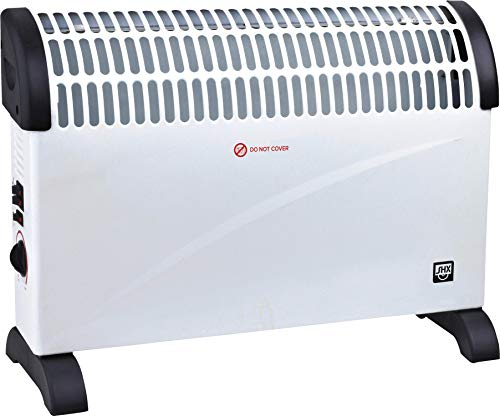 SHX SHX20STKV2001 Konvektorheizung mit Turbo-Heizlüfter, Elektroheizkörper-2000 Watt, Sicherheitsthermostat, 3 Leistungsstufen, Überhitzungsschutz, Kippschutz, Geräuscharm