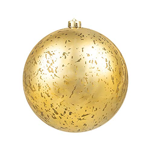 """Christmas Ball Ornaments Gold Giant Shatterproof Plastic Decorative Hanging Mercury Ballfor Holiday Party Decorations Set of 1,(20cm-8"""")"""