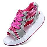 WXDC Sandalias de Verano para Mujer, Sandalias de Mujer de Fondo Grueso, Sandalias de Encaje para Pastel, Zapatos para Estudiantes de Playa