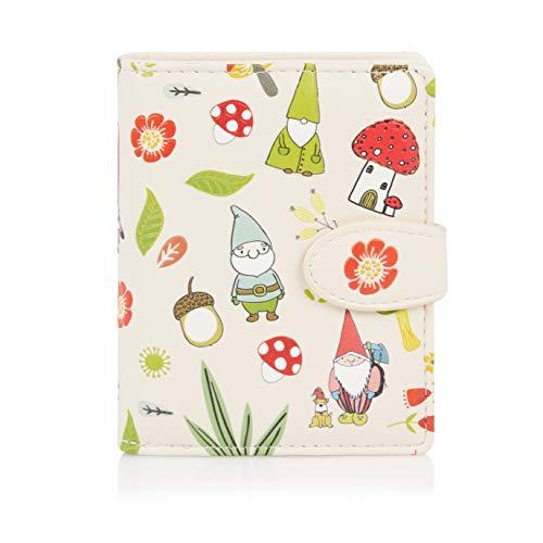 SHAGWEAR ® Portemonnaie Geldbörse Damen Geldbeutel Mädchen | Bifold Mehrfarbig Portmonee Designs: (GNOME Beige)