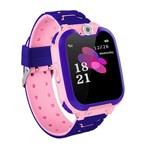 Winnes Reloj Inteligente para Niños, Smart Watch Phone,Musica y 7 Juegos, 2 Vías Llamada Despertador de Cámara para Reloj Niño y Niña 3-12 años
