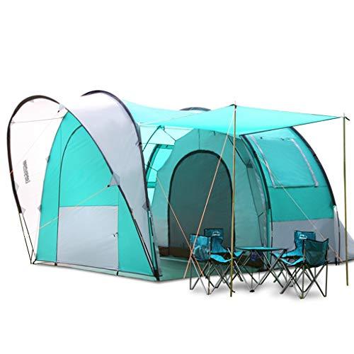 Tent chapiteaux Anti-tempête Tunnel De Camping en Plein Air De Camping Autonome 5-6 Personnes Double Super (Color : Blue, Size : 485 * 300 * 223cm)